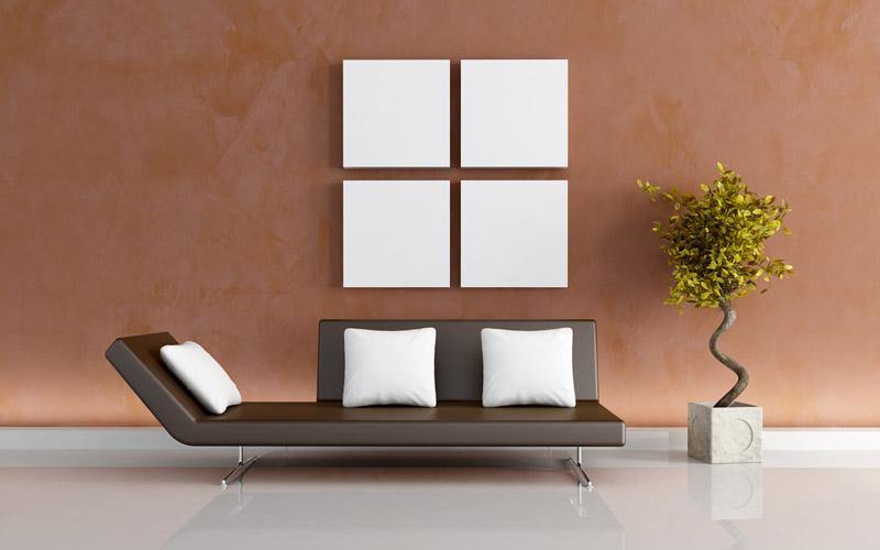 modern brown living-room