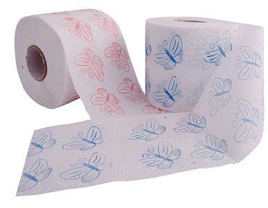 دستمال توالت شش قلو نیلوفر