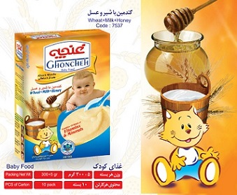 غذای کودک گندمین با شیر و عسل 300 گرم آی سودا