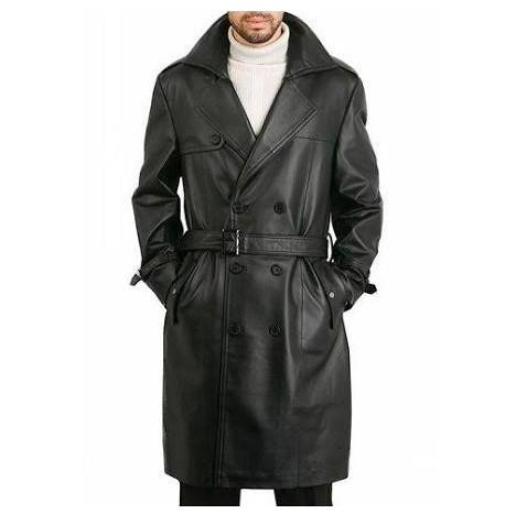 Leather-coat-13-man فروش ویژه کت بلند چرم طبیعی مردانه اورجینال