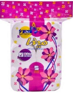mina-toilet-6roll1 خرید دستمال کاغذی ۶ قلو مینا