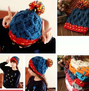 kolah-baft-dokhtarane-6 خرید کلاه بافت دخترانه