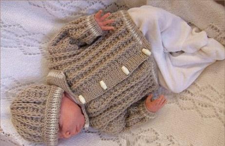 خرید لباس بافت نوزاد پسر
