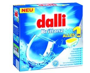 قرص ماشین ظرفشویی پنج کاره 28 عددی DALLI آلمان
