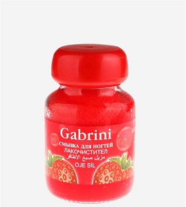 lak-pak-kon-_gabrini3 خرید لاک پاک کن شیشه ای قرمز گابرینی