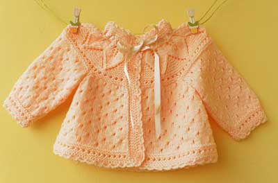 خرید لباس بافت نوزادی دخترانه