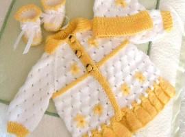 خرید ست بافت نوزاد دختر 1
