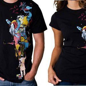 خرید تیشرت مشکی با چاب عکس دلخواه در یک رو