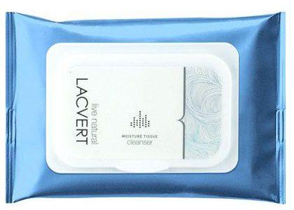 moisture tissue cleanser lacvert,خرید دستمال مرطوب پاک کننده آرایش لاکورت