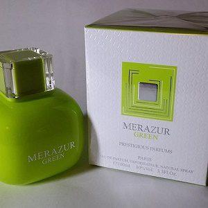 ادکلن زنانه مرازور گرین برند پرستیژس پارفومز - MERAZUR GREEN